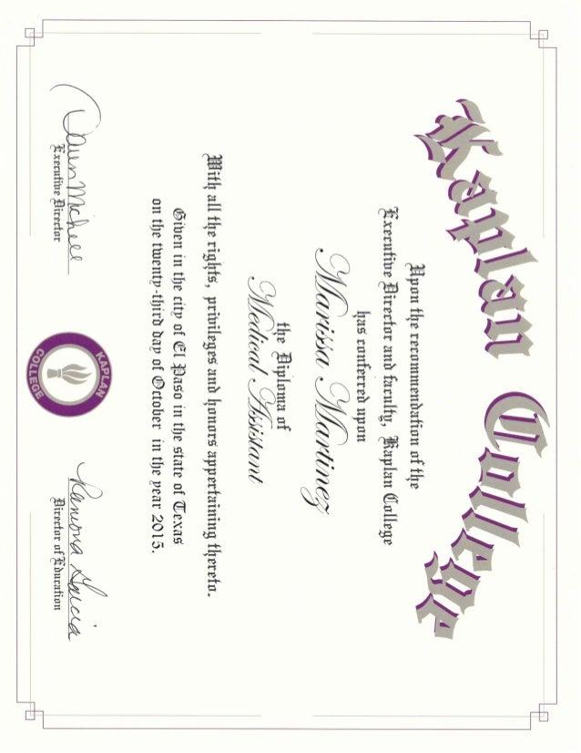 kaplan certificate ma college slideshare upcoming