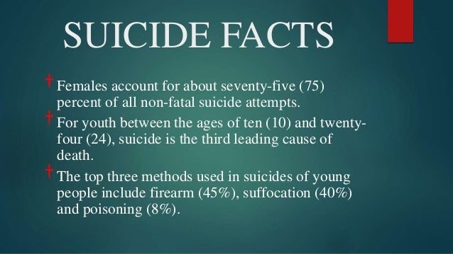the numerous reasons behind the suicides in the united states But, as a matter of public health, gun suicides are a huge problem in the united states suicide is the second-most common cause of death for americans between 15 and 34, according to the centers.