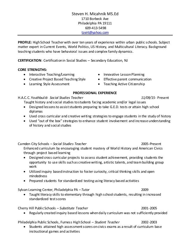 steven h micahnik education resume
