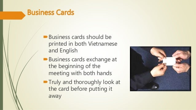Vietnamese business culture business cards reheart Choice Image