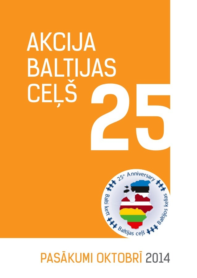 Akcija Baltijas ceļš Pasākumi OKTOBRĪ 2014