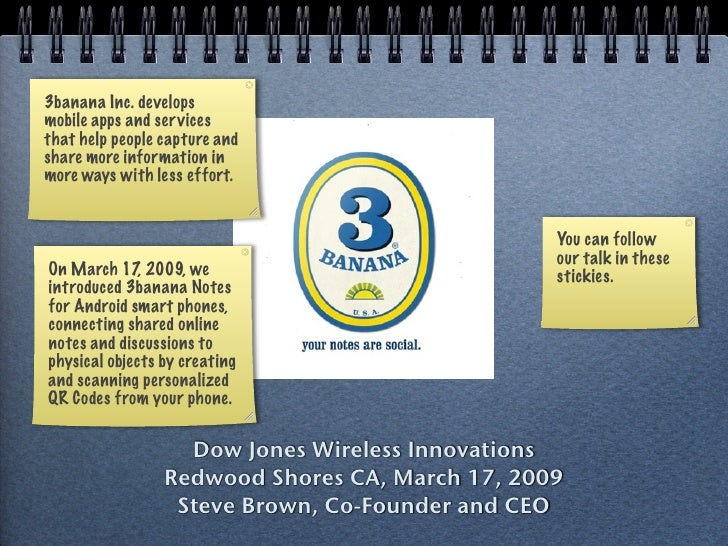 3banana Inc. develops mobile apps and ser vices that help people capture and share more information in more ways with less...
