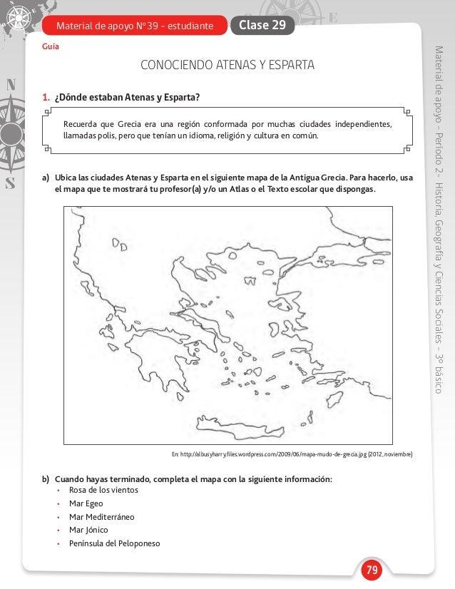 Mapa Mudo Grecia Antigua.3 Basicoindicedematerialdeapoyohistoria 1 Gracia