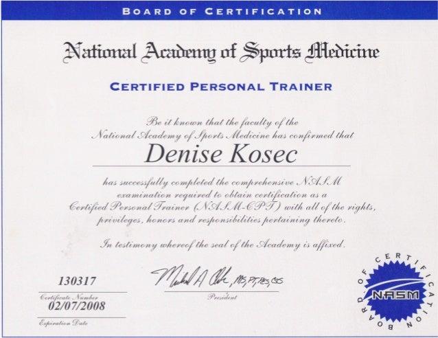 Nasm Cpt 2008 Certification