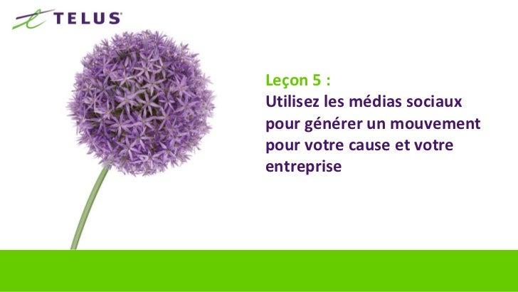 Médias sociaux : Mentions en lignenombre minimum de mentions TELUS sur les sites de médias sociaux