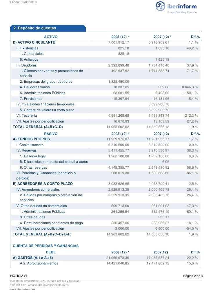 Iberinform - Cuentas Anuales Slide 2