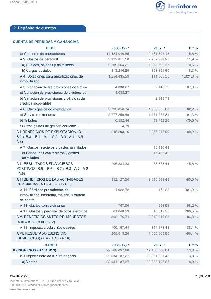 Iberinform - Cuentas Anuales Slide 3
