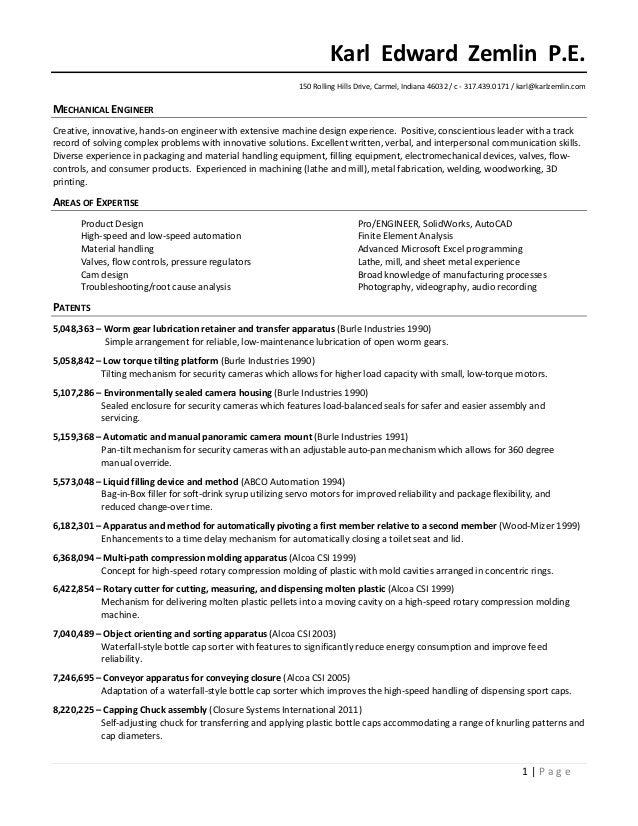 karl zemlin resume 2017