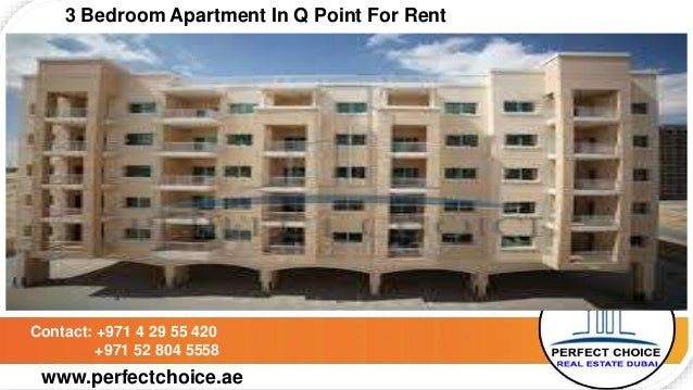 3 Bedroom Apartment In Q Point For Rent Dubai