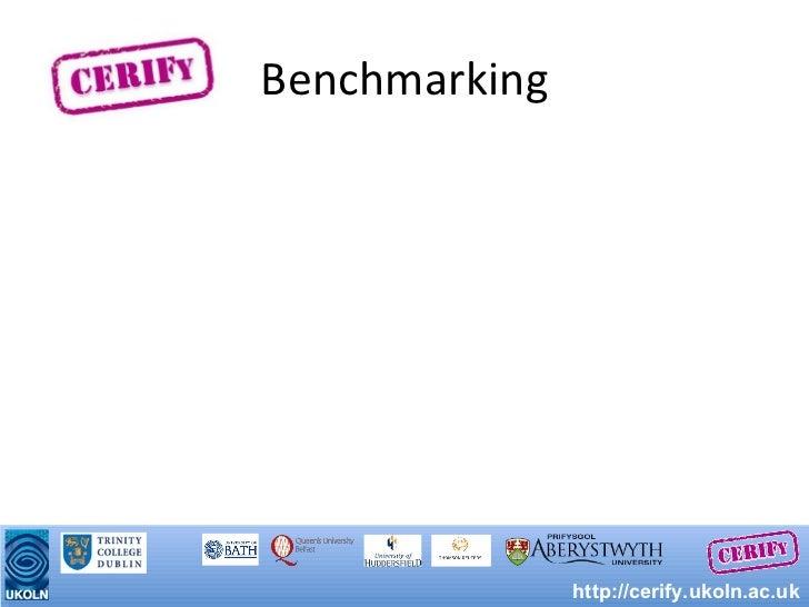 Benchmarking http://cerify.ukoln.ac.uk