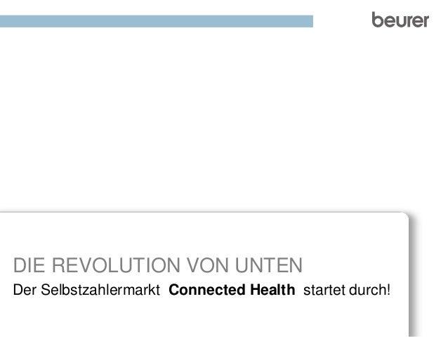 DIE REVOLUTION VON UNTEN  Der Selbstzahlermarkt Connected Health startet durch!