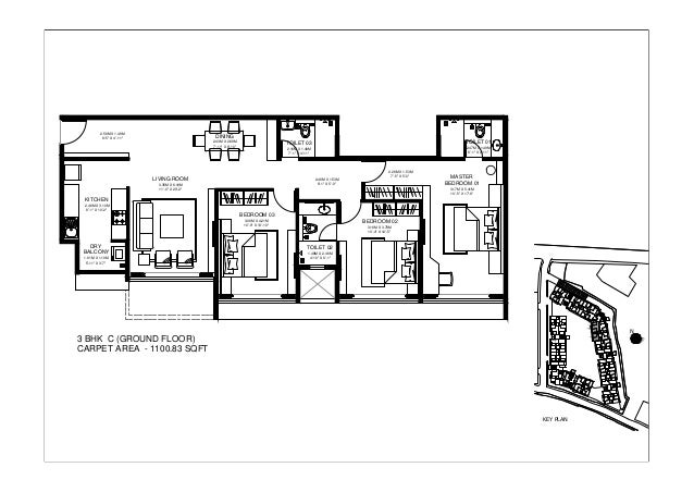 3 bhk 1100 sqft Godrej Central Floor Plan Call 8451007309