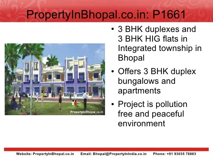 PropertyInBhopal.co.in: P1661                                                   ●   3 BHK duplexes and                    ...