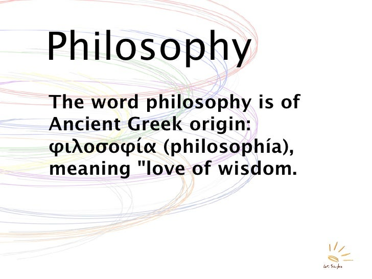 What is philosopy