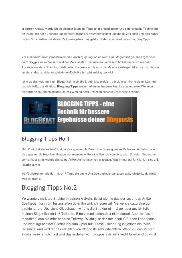 in diesem Artikel, werde ich dir ein paar Blogging Tipps an die Hand geben und eine einfache Technik mit dir teilen, mit d...