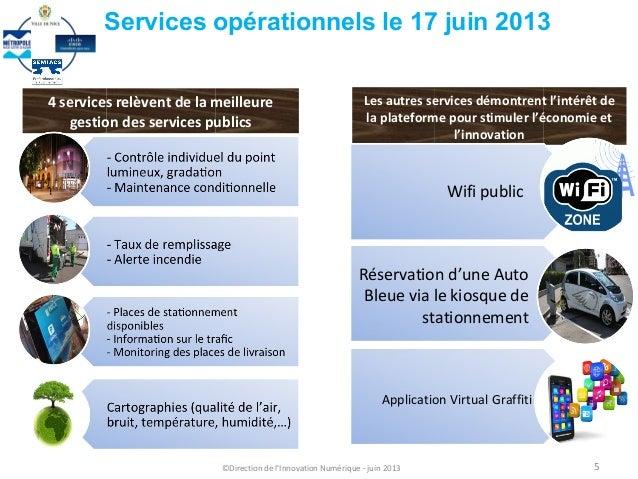4 services relèvent de la meilleuregestion des services publicsLes autres services démontrent l'intérêt dela plateforme po...