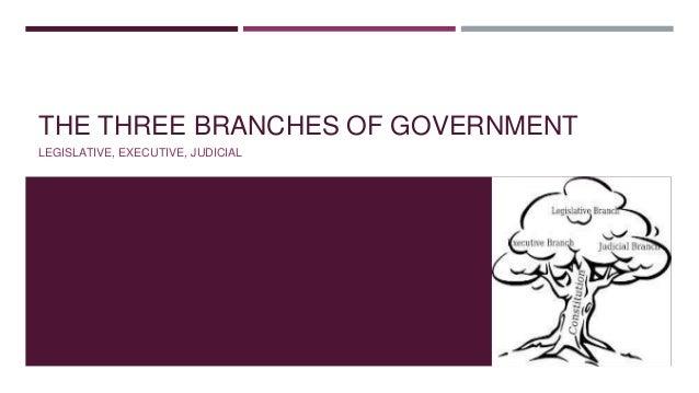 THE THREE BRANCHES OF GOVERNMENT LEGISLATIVE, EXECUTIVE, JUDICIAL