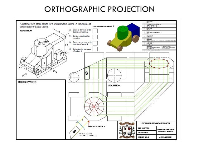 Technical Graphics Elevation Plan End View : Junior certificate technical graphics notes