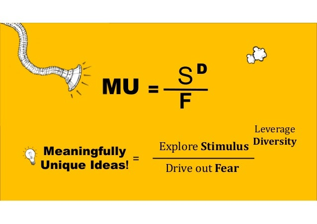 More Stimulus = More Ideas (Quantity & Quality) Wheretogo onvacation?