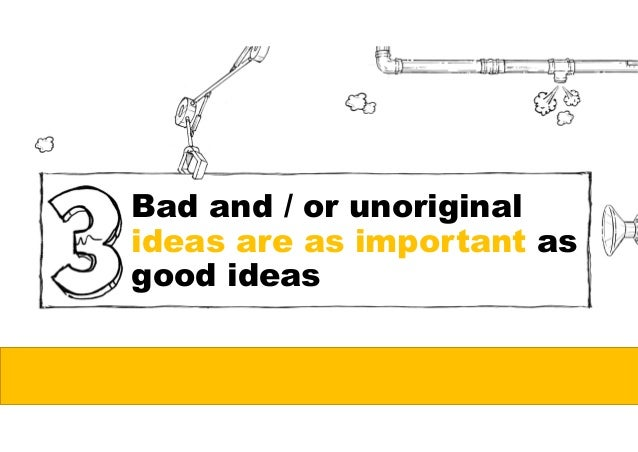 Ideas come when you have time to think…