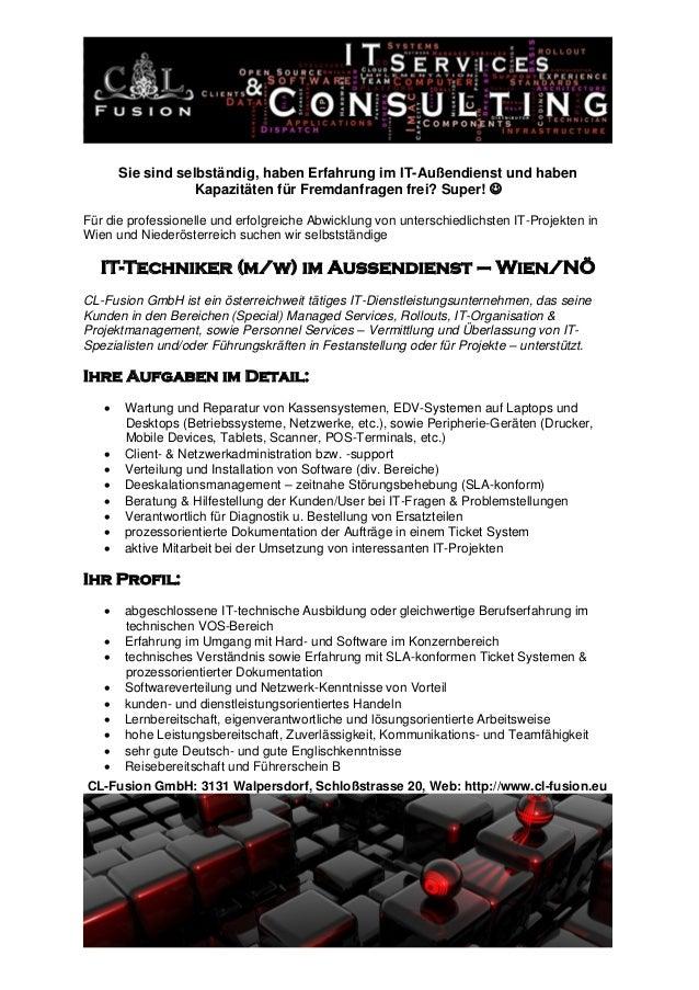 CL-Fusion GmbH: 3131 Walpersdorf, Schloßstrasse 20, Web: http://www.cl-fusion.eu Sie sind selbständig, haben Erfahrung im ...