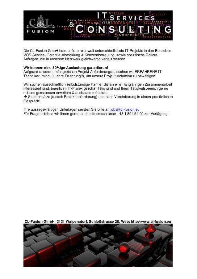 ID-1153 - Projektbeschreibung IT-Techniker im Außendienst - Wien, NÖ Slide 2