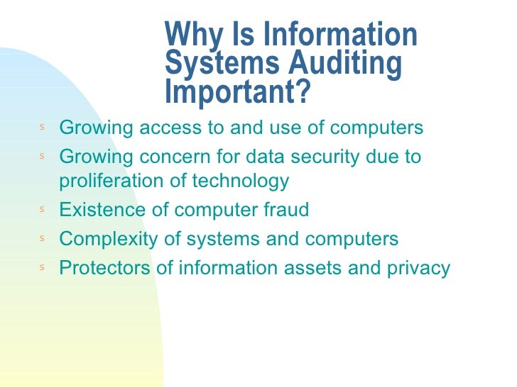 kudler information system audit Therefore, frequent and strong follow-up is required via regular information  systems security audits nevertheless, the scarcity of professionals and the lack  of.