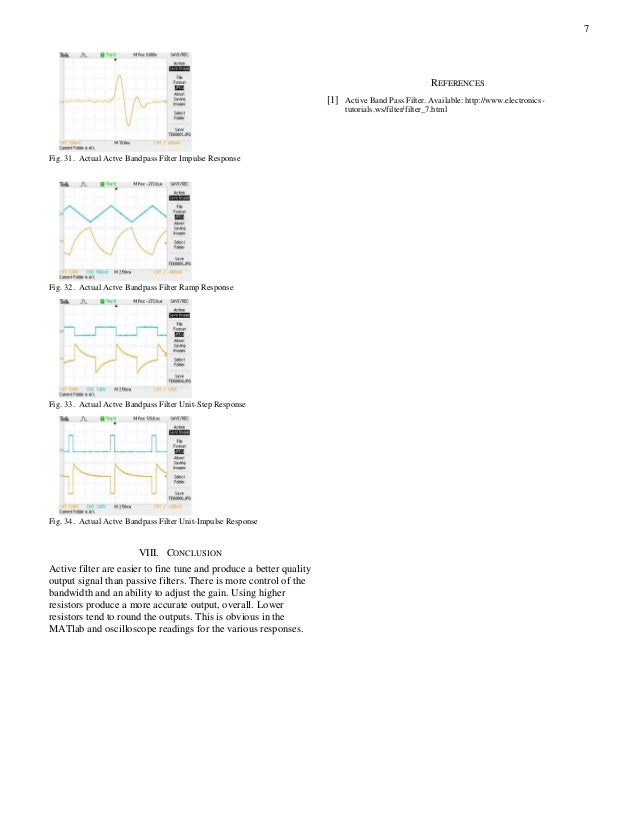 Design and Analysis of Active Bandpass Filter