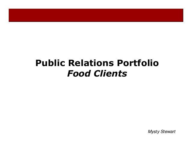 Public Relations Portfolio Food Clients Mysty Stewart