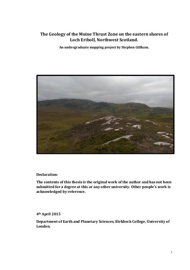 Geology thesis
