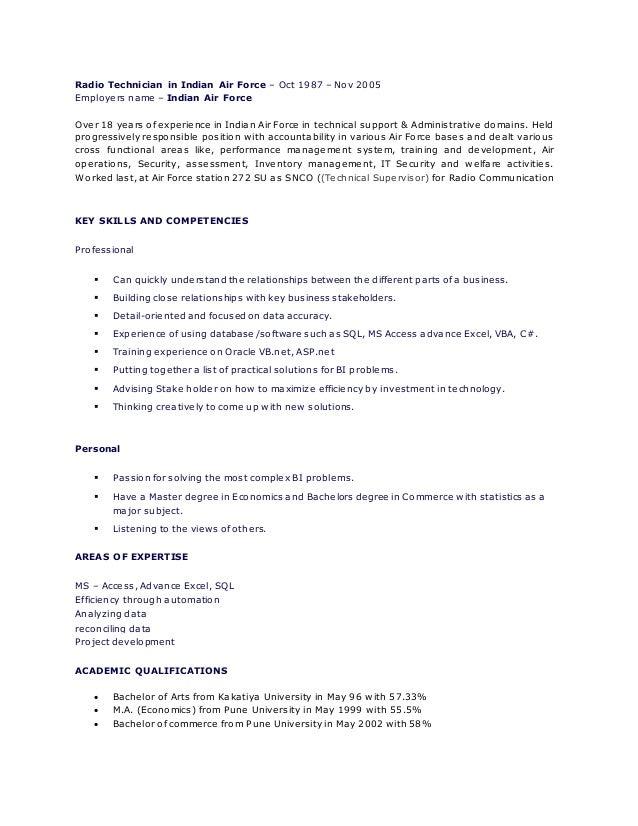 resume bi and dataanalyst