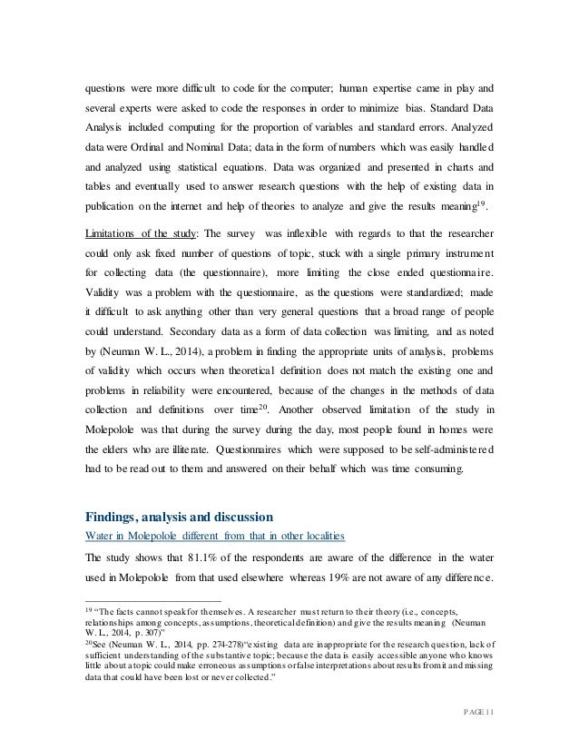 Implications of Household (Domestic) Use of Hard water on Molepolole …