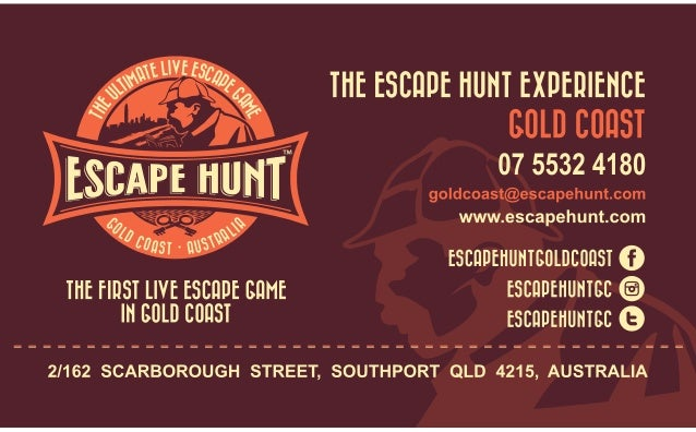 Copy of business card escape hunt gold coastfinal copy gold coast australia the ultimate live escape g ame reheart Image collections