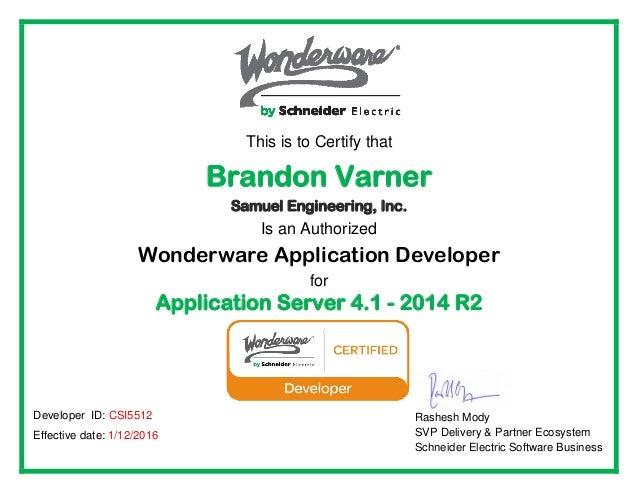 Application Server Certification