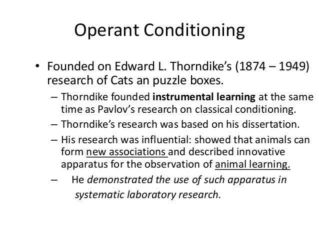 edward thorndike dissertation