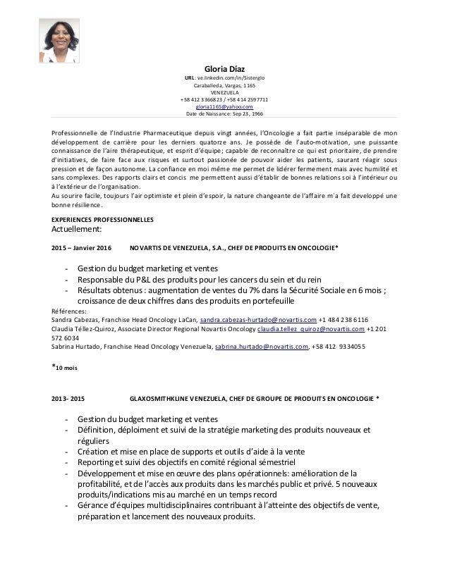 Gloria Díaz URL: ve.linkedin.com/in/Sisterglo Caraballeda, Vargas, 1165 VENEZUELA +58 412 3366823 / +58 414 2597711 gloria...