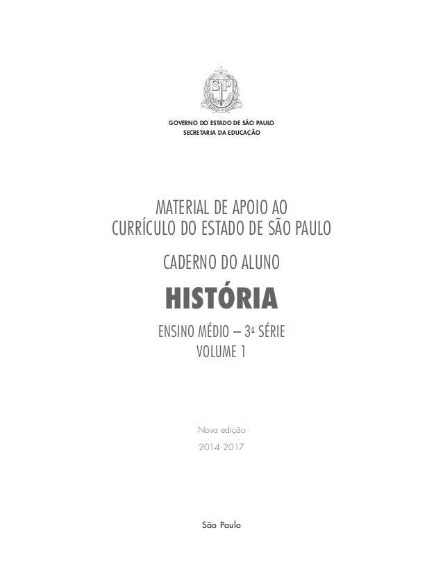 Caderno do Aluno História 3 ano vol 1 2014-2017 Slide 2