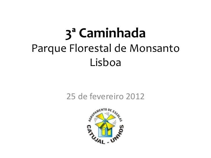 3ª CaminhadaParque Florestal de Monsanto           Lisboa      25 de fevereiro 2012