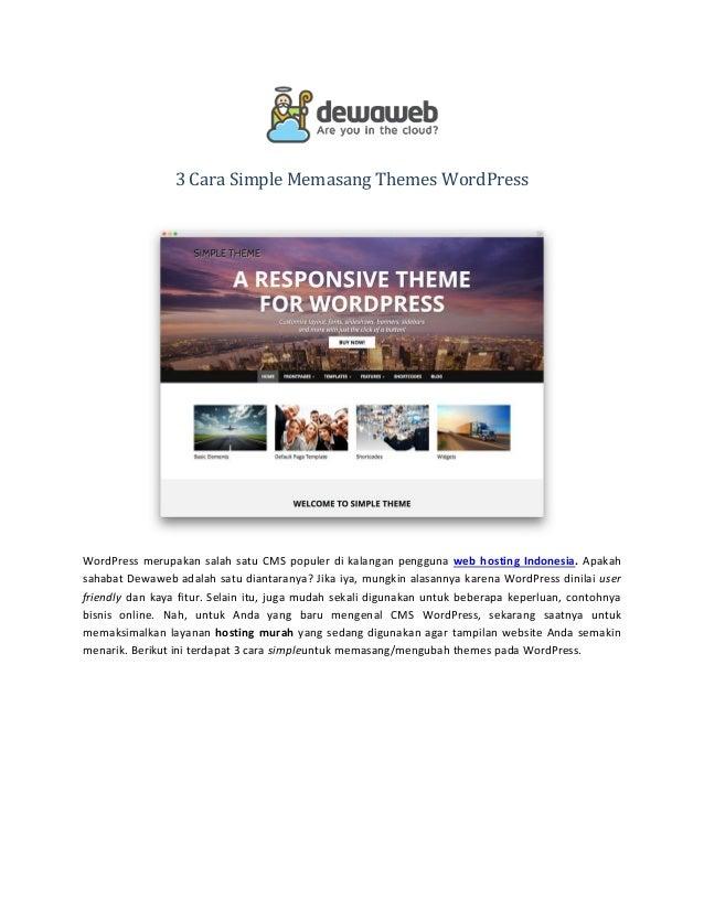 3 cara simple memasang themes wordpress. Black Bedroom Furniture Sets. Home Design Ideas