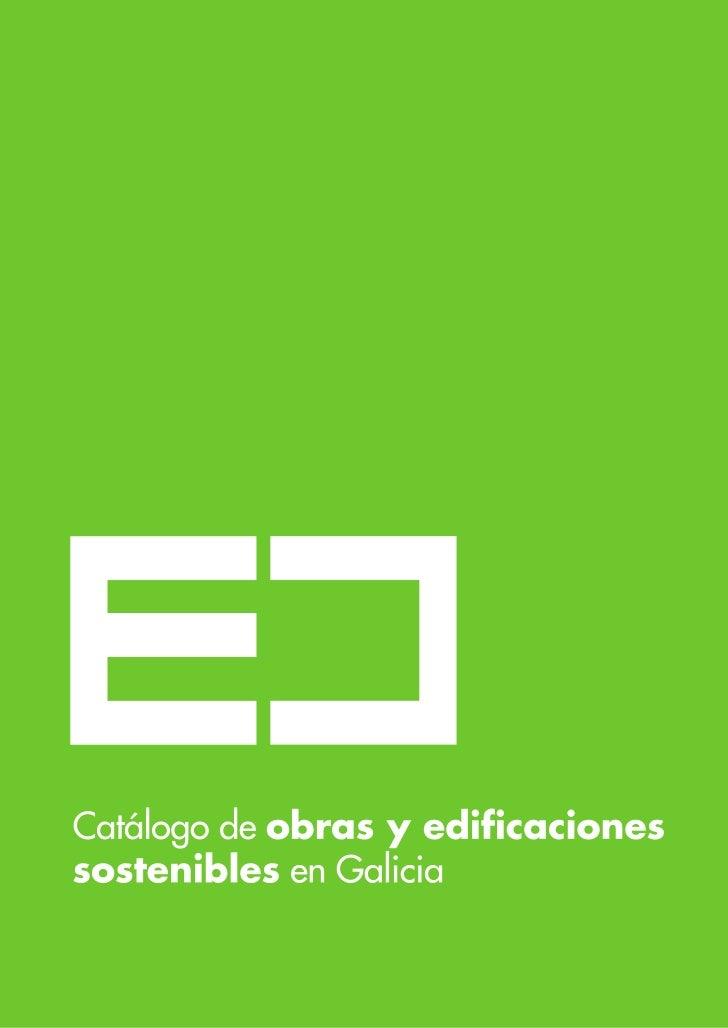 Catálogo de obras y edificacionessostenibles en Galicia