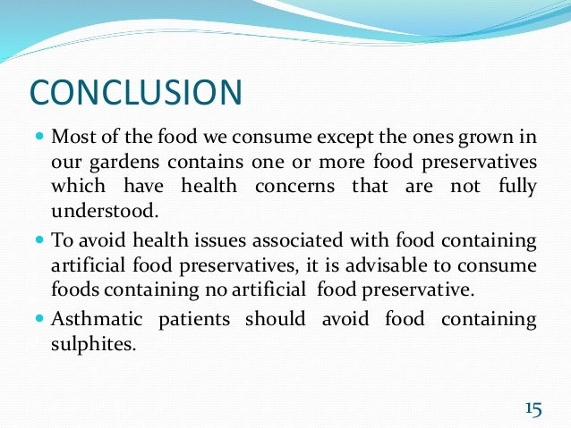 food poisoning conclusion