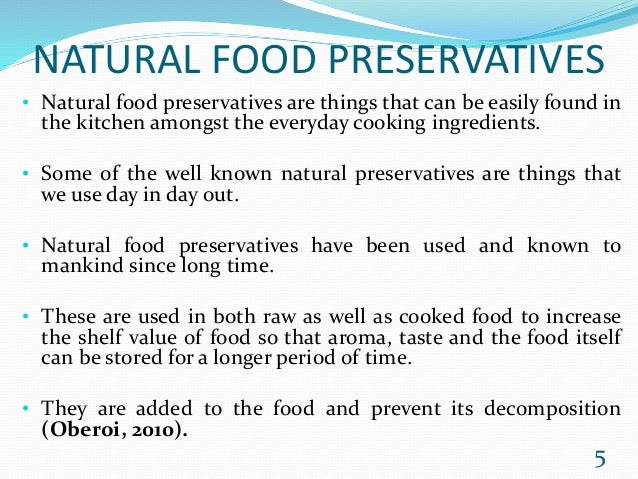 FOOD PRESERVATIVE AND ITS EFFECTS ON FERTILTY