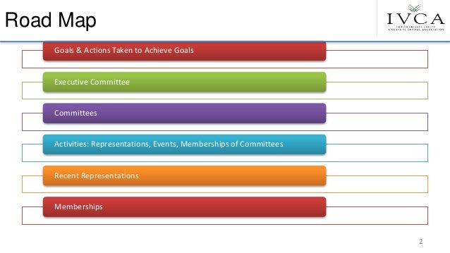 Road Map Goals & Actions Taken to Achieve Goals Executive Committee Committees Activities: Representations, Events, Member...