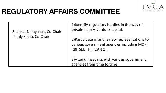 REGULATORY AFFAIRS COMMITTEE Shankar Narayanan, Co-Chair Paddy Sinha, Co-Chair 1)Identify regulatory hurdles in the way of...