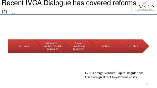 Recent IVCA Dialogue has covered reforms in … FVCI Policy Alternative Investment Fund Regulations Pension Investment Guide...