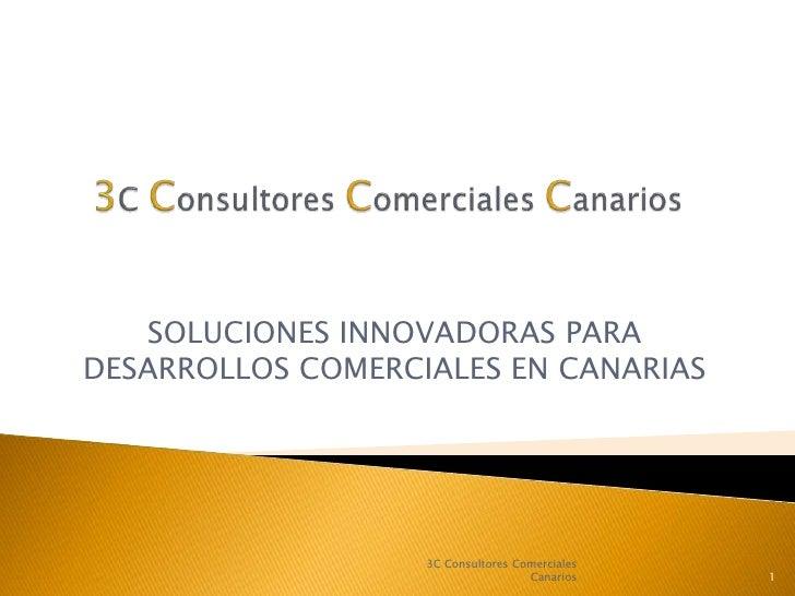 3C Consultores Comerciales Canarios<br />SOLUCIONES INNOVADORAS PARA DESARROLLOS COMERCIALES EN CANARIAS<br />1<br />3C Co...