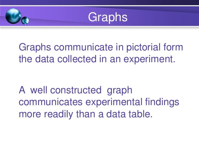 Constructing Line Graphs 3. Plot the data pairs as data points on a graph. 4. Summarize trends