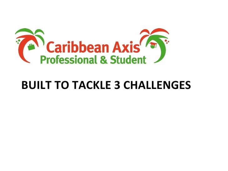 BUILT TO TACKLE 3 CHALLENGES