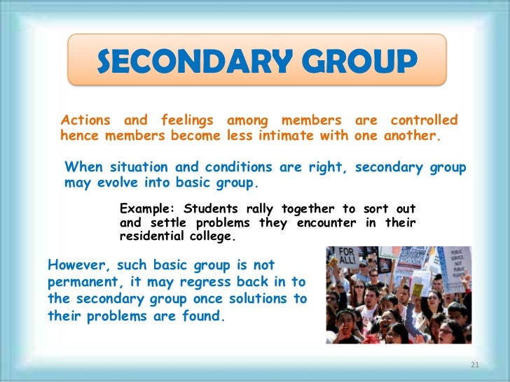 primary and secondary groups sociology