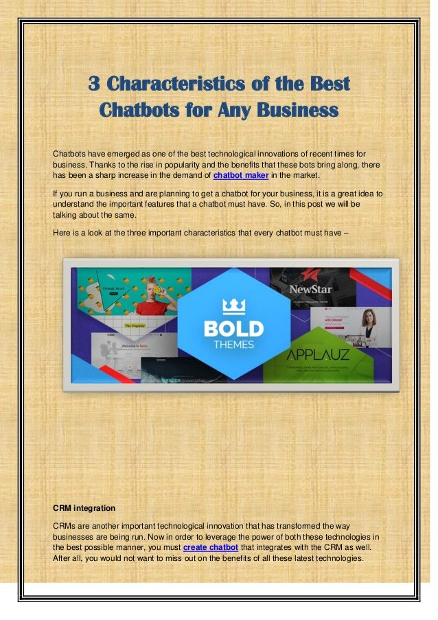 3 Characteristics of the Best Chatbots for Any Business